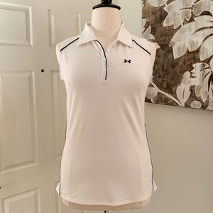 Under Armour White Collared Sleeveless Top ⛳️